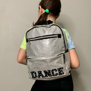 DANCE Silver Sequin Backpack